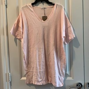 New Zara Pink Over Size Shirt S